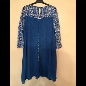 Dresses & Skirts - Chiffon Overlay and Lace detail Dress - XXL